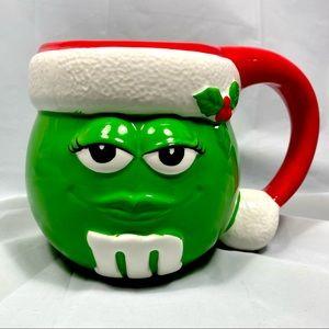 M&M's 2002 Christmas Ceramic Mug Coffee Tea Cocoa